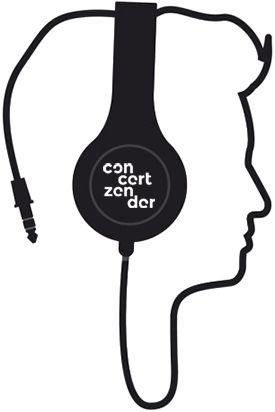 silhouette with headphones